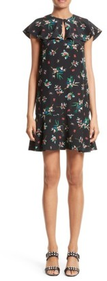 Women's Red Valentino Wallpaper Floral Print Silk Dress $795 thestylecure.com
