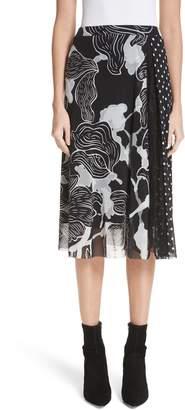 Fuzzi Floral & Polka Dot Print Tulle Skirt