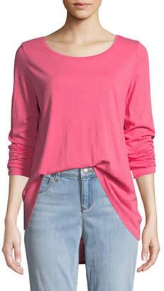 Eileen Fisher Slub Long-Sleeve Tunic Tee, Plus Size