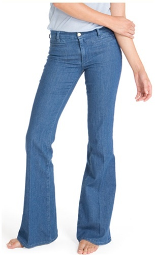 MiH Denim Marrakesh Mid Rise Kick Flare Jean in Reef