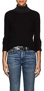 ATM Anthony Thomas Melillo Women's Metallic-Knit Cashmere Turtleneck Sweater - Black