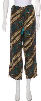 Figue Silk Wide-Leg Pants