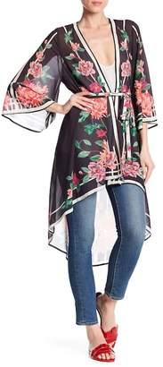 Jealous Tomato Floral Print Kimono