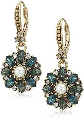 Marchesa Women's Gold/ Multi Small Drop Earrings