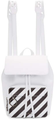 Off-White Off White White Mini Diagonal Backpack