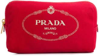Prada logo printed make up bag