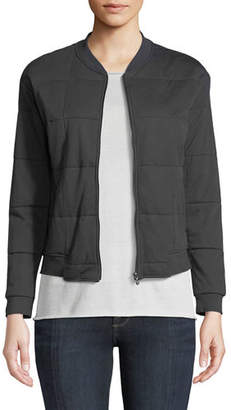 Neiman Marcus Majestic Paris for Quilted Zip-Front Bomber Jacket