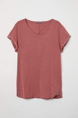 H&M Slub Jersey T-shirt - Red
