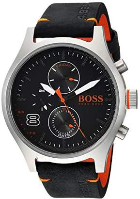 HUGO BOSS Men's 'Amsterdam' Quartz Stainless Steel and Leather Casual Watch