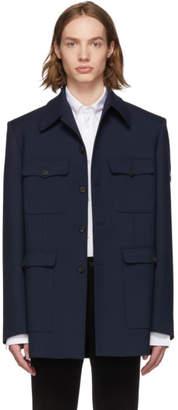 Balenciaga Navy Military Jacket