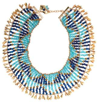 Rosantica By Michela Panero - Indios Beaded Necklace - Womens - Blue