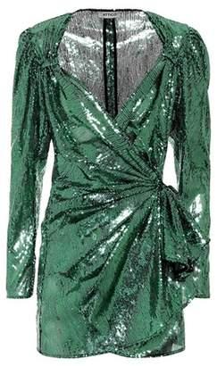 ATTICO Sequined tulle wrap dress