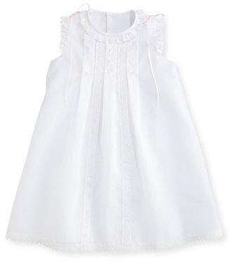 Luli & Me Sleeveless Organza Shift Dress, White, Size 2-4T $98 thestylecure.com