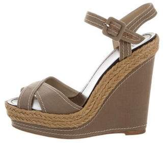 Christian Louboutin Crossover Wedge Sandals