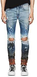Amiri Men's Palm-Tree-Print Thrasher Jeans-Lt. Blue