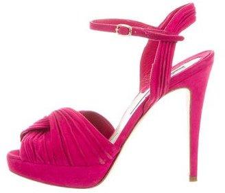 Brian Atwood Suede Platform Sandals $125 thestylecure.com