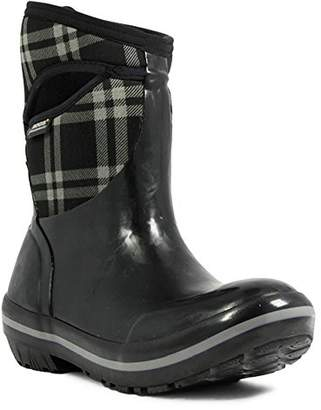 Bogs Women's Plimsoll Plaid Mid Waterproof Insulated Boot