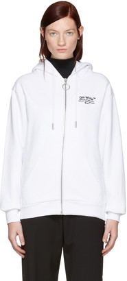 Off-White White Off Zip Hoodie $545 thestylecure.com