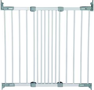 Babydan Super Flexi Fit Extending Metal Safety Gate (White/Silver)