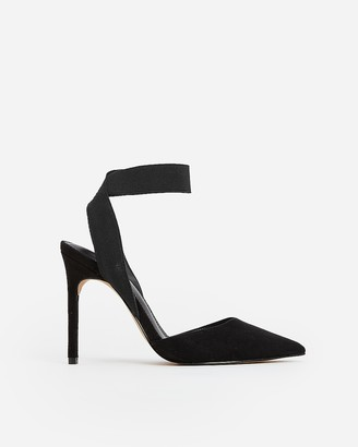 Express Stretch Ankle Strap Pumps