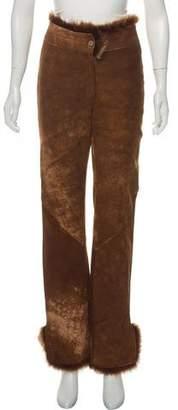 Fendi High-Rise Leather Pants