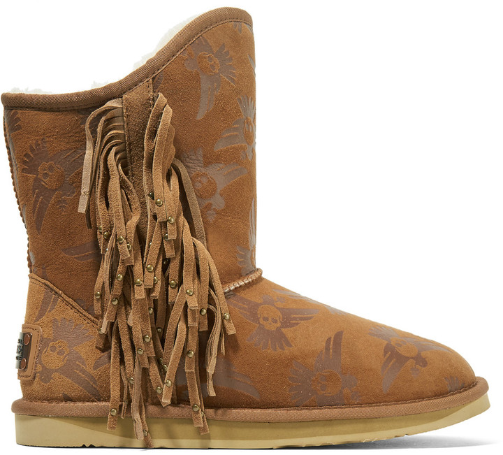 Australia Luxe CollectiveAustralia Luxe Collective Naeve Short embossed shearling boots