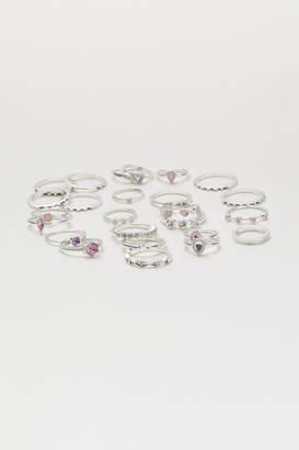 H&M 25-pack Rings - Silver