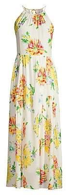 Kobi Halperin Women's Lana Floral Silk-Blend Hatler Maxi Dress