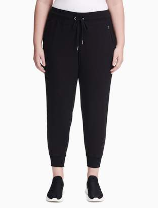 Calvin Klein plus size performance slim cropped jogger sweatpants
