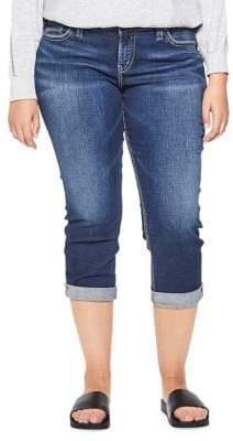 Silver Jeans Elyse Mid-Rise Capri Jeans
