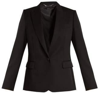 Stella McCartney Peak Lapel Single Breasted Wool Jacket - Womens - Black