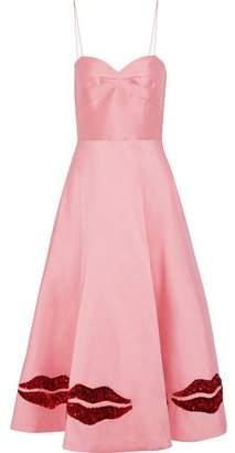 Sachin + Babi Ela Sequin-Embellished Duchesse Satin-Twill Midi Dress