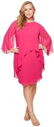 Lauren Ralph Lauren Plus Size Apollonia Georgette Dress Women's Dress