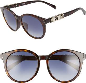 Moschino 54mm Special Fit Mirrored Round Sunglasses