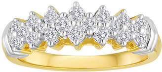 FINE JEWELRY 1/2 CT. T.W. Diamond 10K Yellow Gold Pyramid Ring