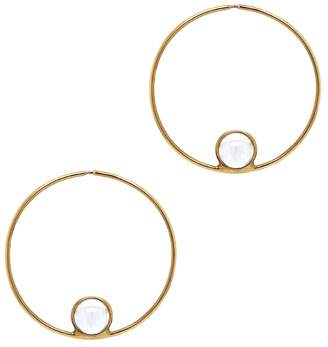 Cyril Studio Small Halo Hoop Earrings - Yellow Gold