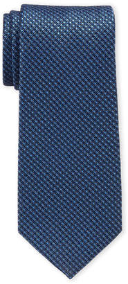 Perry Ellis Portfolio Navy Roland Mini Check Silk-Blend Tie