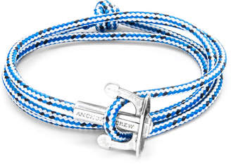Anchor And Crew Union Silver & Rope Bracelet