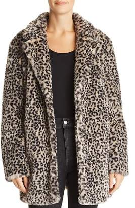 Aqua Leopard Print Faux Fur Jacket - 100% Exclusive
