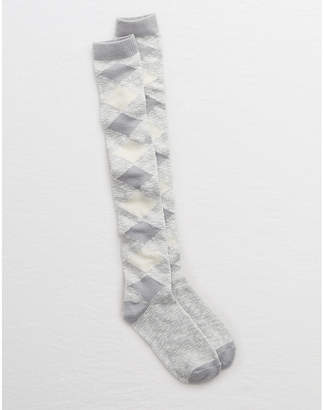 aerie Argyle Over-the-Knee Socks
