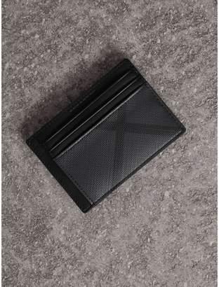 Burberry Check Money Clip Card Case