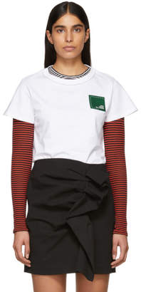 Carven White Branded Patch T-Shirt