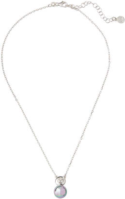 Majorica Pearl & Crystal Pendant Necklace