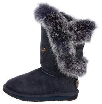 Australia Luxe Collective Suede Fur-Trimmed Boots