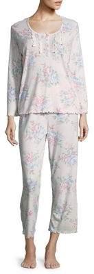 Miss Elaine Floral Frilled Pajamas