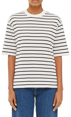 Women's Topshop Boutique Snap Side Stripe Tee $65 thestylecure.com