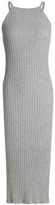 Autumn Cashmere Ribbed Stretch-Cotton Midi Dress