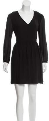 Chloé Silk Seersucker Dress Black Chloé Silk Seersucker Dress