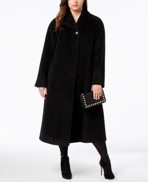 Jones New York Plus Size Wool-Blend Maxi Walker Coat
