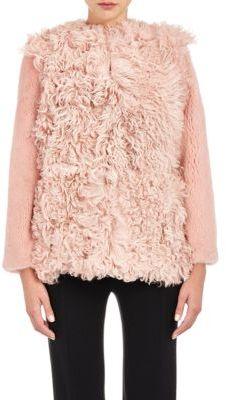 Barneys New York Women's Mixed-Fur Coat-PINK $4,950 thestylecure.com